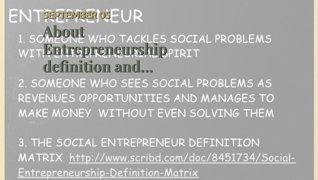 About Entrepreneurship definition and meaning - Collins English
