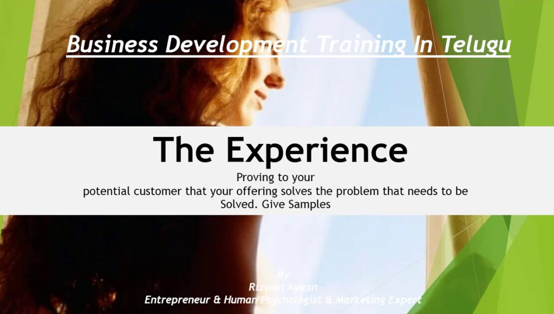 Experience Business ideas in Telugu Consultancy Whats App:9393860618
