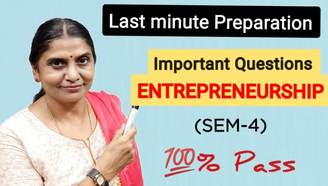 Entrepreneurship | Most Important Questions| Last Minute Preparation | 💯% Pass | English Today