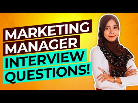 MARKETING MANAGER Interview Questions & Answers! (PASS your Sales & Marketing Interview!)