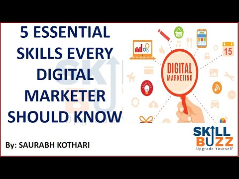 5 essential skills every digital marketer should know | Digital marketing tips