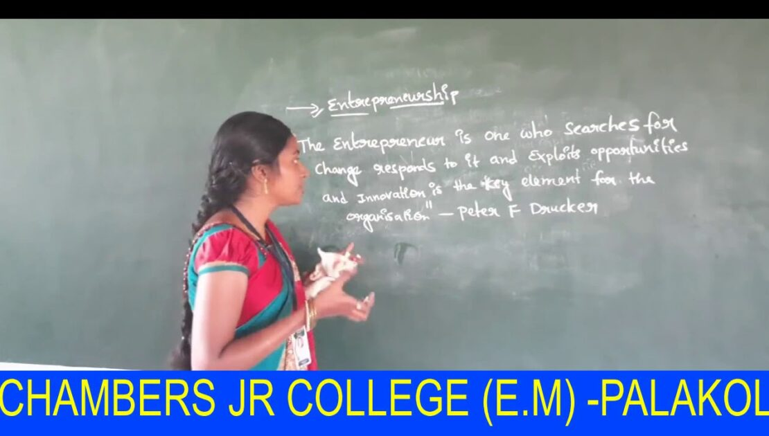 INTER - II YEAR COMMERCE THEORY CHAPTER 1 ENTREPRENEURSHIP SESSION 1