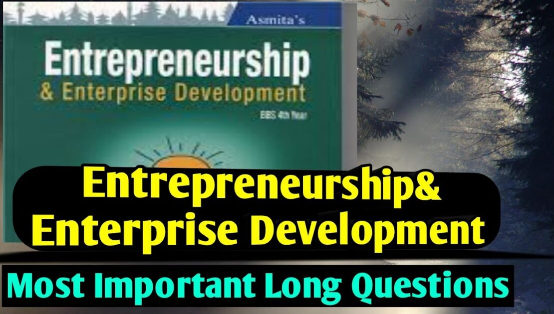 BBS 4th year entrepreneurship notes in nepali