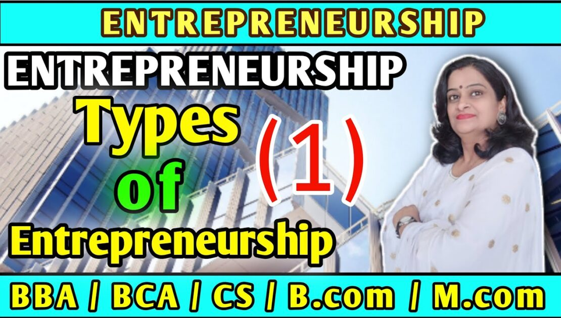 Entrepreneurship || Types of Entrepreneurship (1) ||  Must Watch Video !!! || Check Description ||