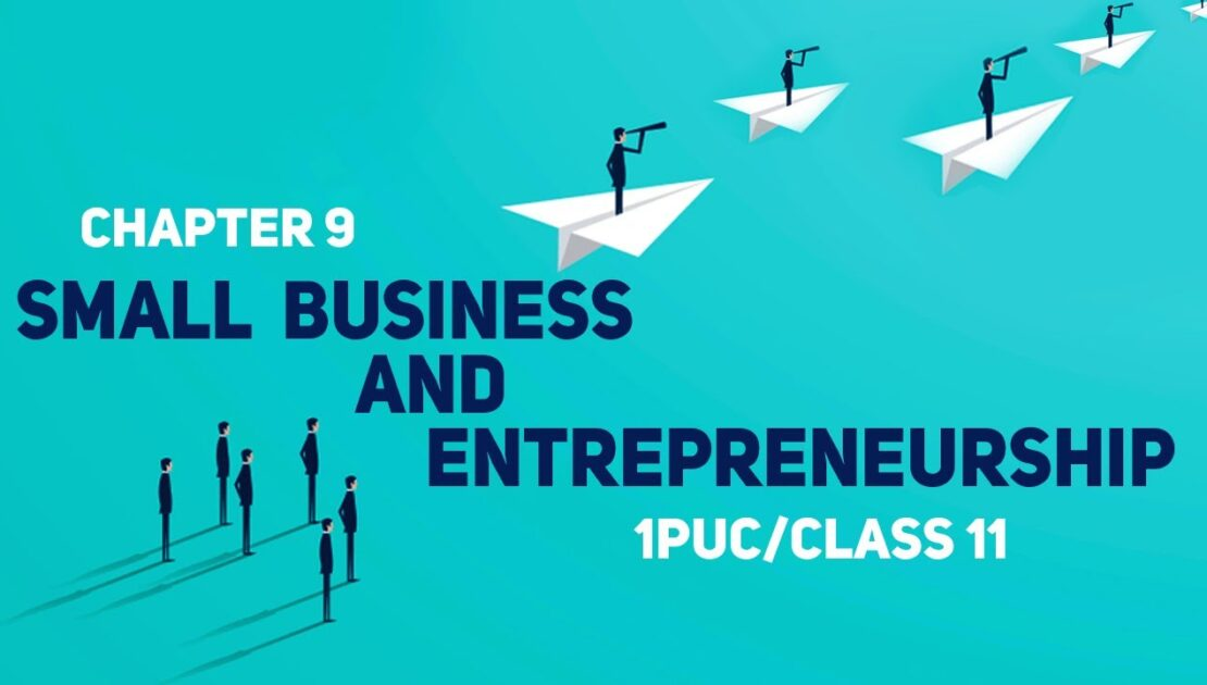 SMALL BUSINESS AND ENTREPRENEURSHIP || CLASS 11 CHAPTER 9 ||
