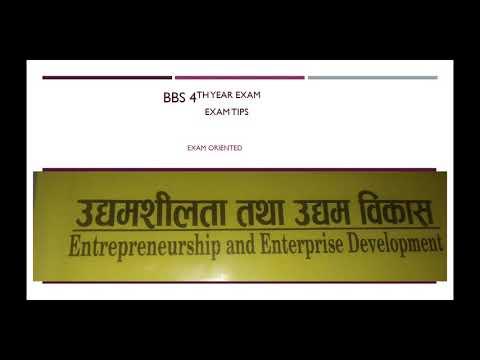 BBS 4th year exam tips(entrepreneurship and enterprise development)