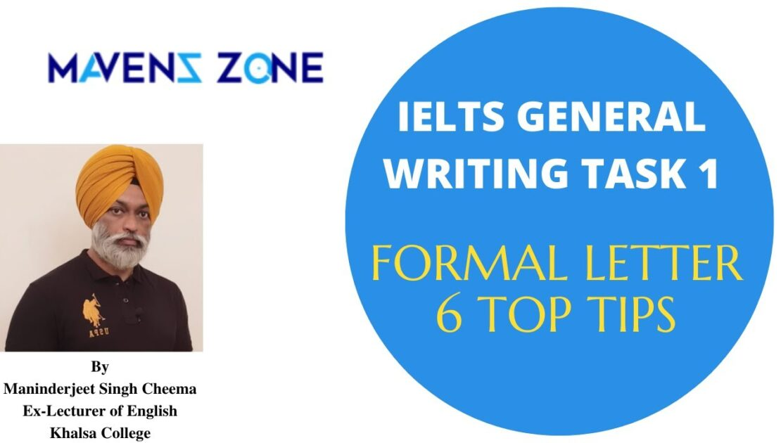IELTS General Writing Task 1- Formal Letter 6 Top Tips in English