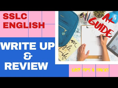 Write Up| Review writing | Easy Tips & Tricks | SSLC ENGLISH | SCERT| Easy learning