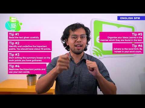 SPM English   Summary Writing Tips