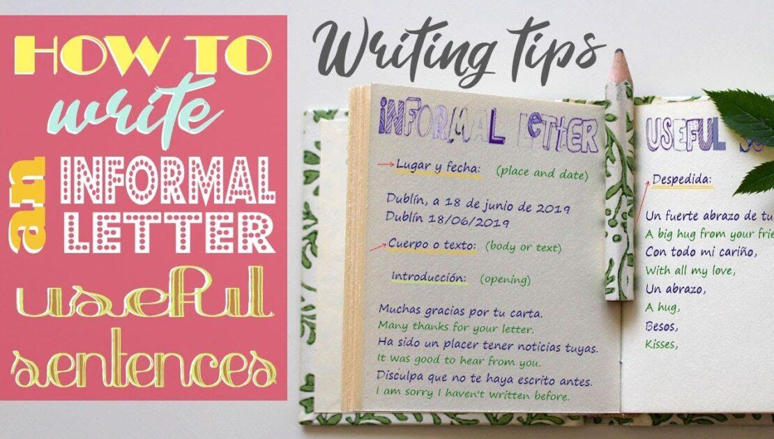Writing Tips: Informal Letter Useful sentences - Carta Informal Frases útiles