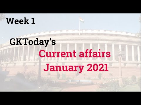 January 2021 Current affairs in English | GKToday