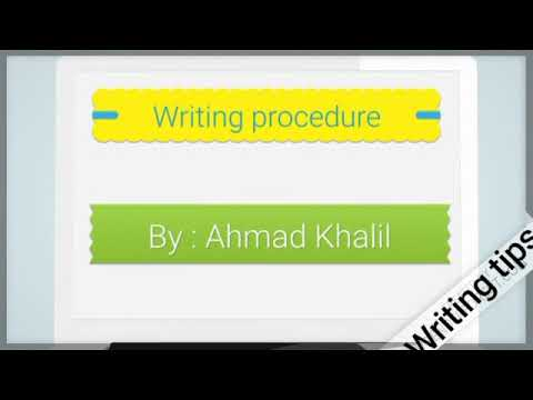 Few minutes English .Writing tips. How to write a paragraph.