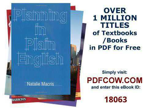 Planning in Plain English Writing Tips for Urban and Environmental Planners