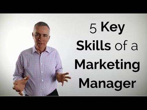 5 Key skills of a marketing manager