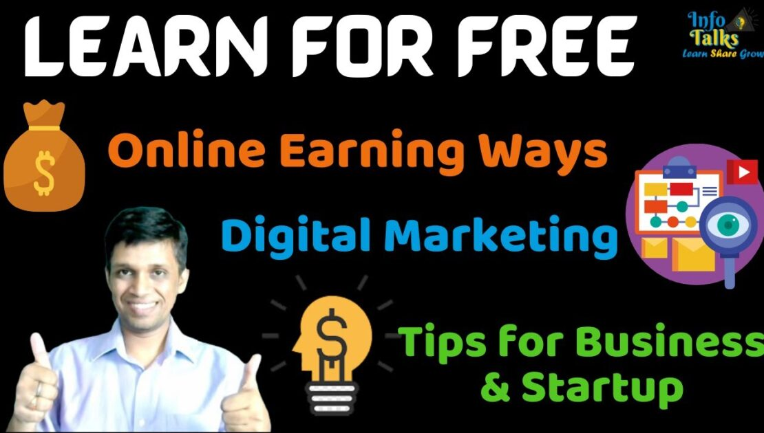 💯 Join InfoTalks 💰Learn Online Earning  from Home 👨‍🏫 Digital Marketing 📈Tips for Business & Startup