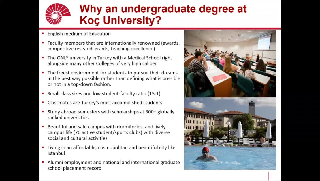 Koç University Undergraduate Admission Webinar Saudi Arabia Jan 25 2021