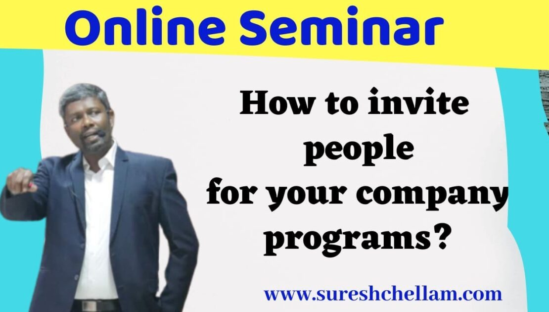 How To Invite People for Your Company Program? || 25th Oct 2020 || Online Seminar