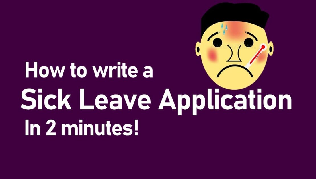 How to write a sick leave application | English writing skill | for School, office and anywhere