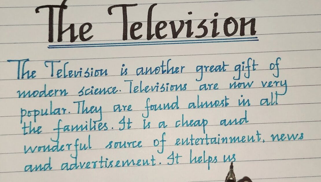 Television Essay//Essay about Television in English//Essay Writing//MASTER HANDWRITING