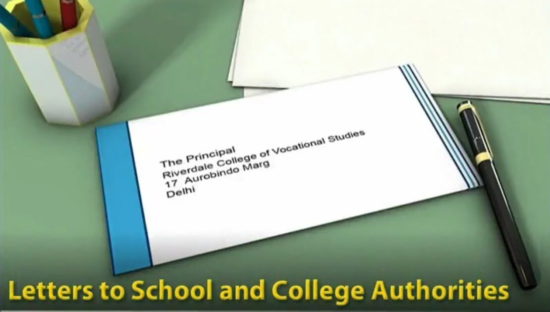 Formal Letters - To School And College Authorities - Comprehensive English Grammar - Writing Skills