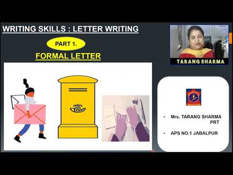Class V | English - Writing Skills | Formal Letter
