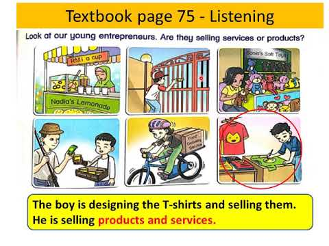 UPSR English Year 6 SJK | Unit 8 You can be an entrepreneur | Textbook page 75 , 76