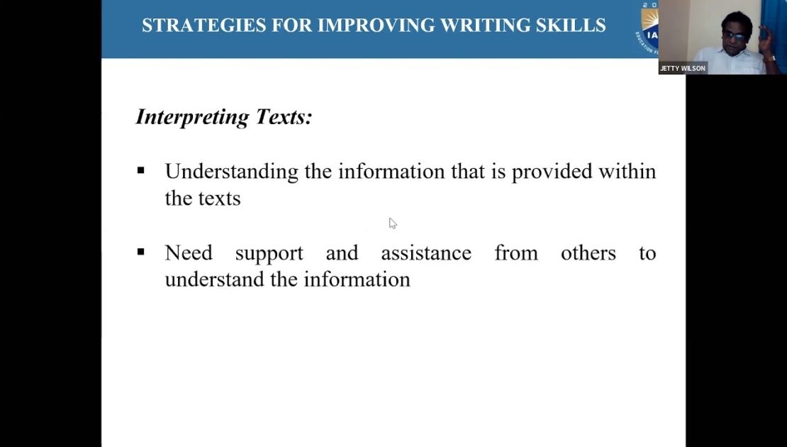 Strategies for Writing Skills (English) by Dr Jetty Wilson