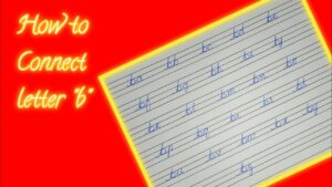 """Connecting of letter """"b"""" 