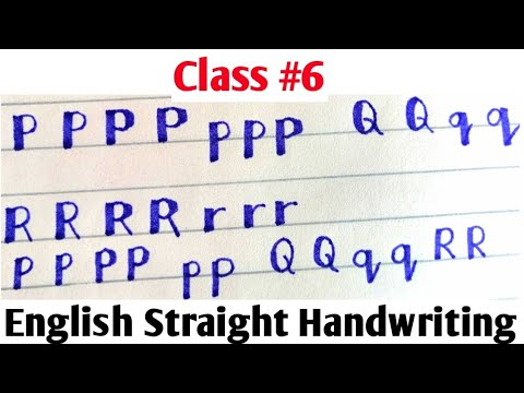 English Calligraphy for beginners ||Class #6 ||Easy Way to write English with Cut Marker 604 and 605
