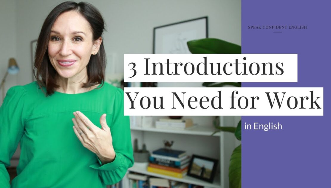 Introductions for Work in English [with 3 Practical Examples]