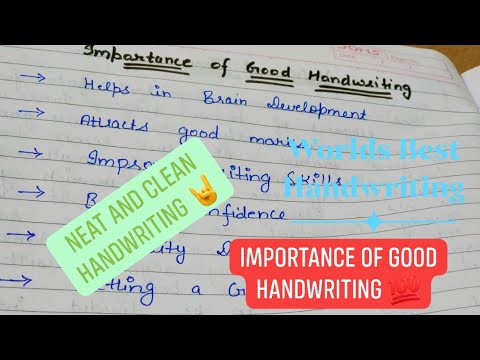 World's Best Handwriting Skills!! Importance Of Good Handwriting In English!! Like And Subscribe 🤘