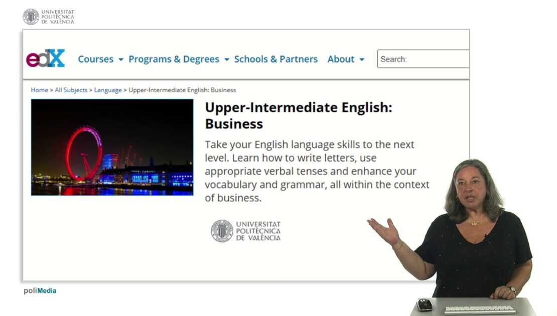 Upper-Intermediate English: Business. MOOC Introduction |  | UPV