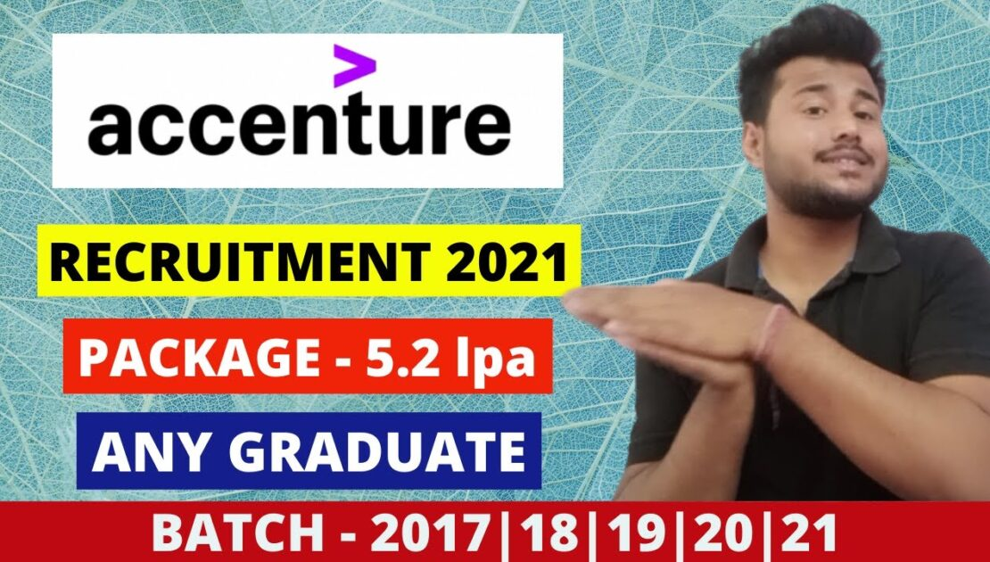 Accenture Recruitment 2021 | Accenture Jobs For Freshers | Latest Job Openings | Off Campus Jobs