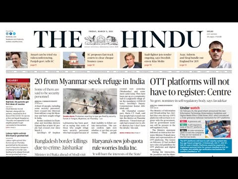 5 March 2021 | The Hindu Newspaper Analysis | Current affairs 2020 #UPSC #IAS #Todays The Hindu