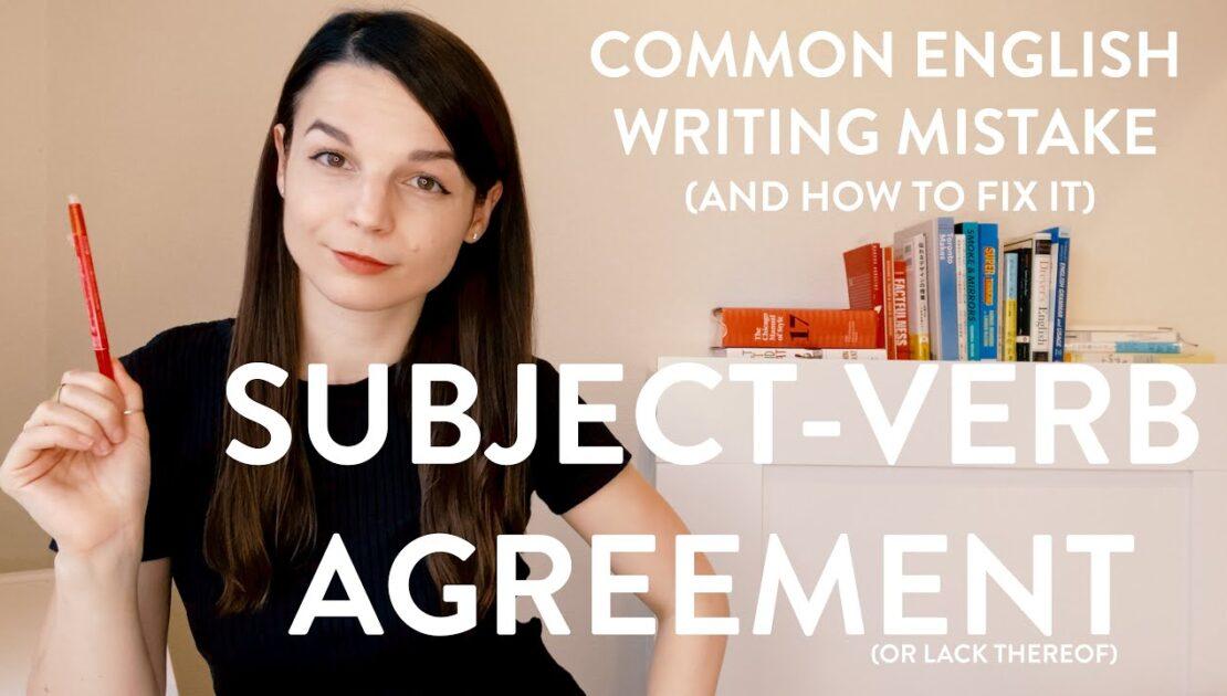 Common Writing Mistake: Subject-Verb Agreement Error - English Writing Tips with Alisha