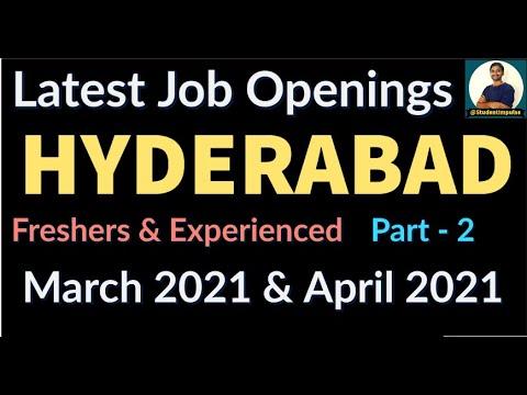 Hyderabad Job Vacancy | Local Jobs in Hyderabad | Jobs in Hyderabad | March & April 2021 | Part 2