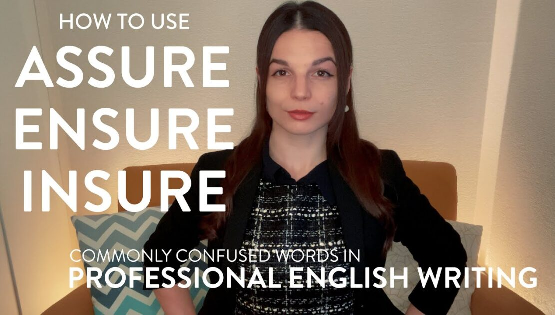 Assure, Ensure, Insure: What's the Difference? English Writing Tips with Alisha (Business English)