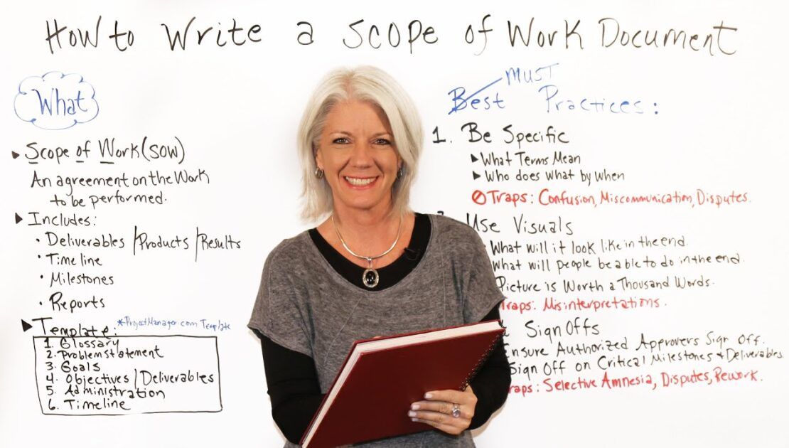 How to Write a Scope of Work Document - Project Management Training