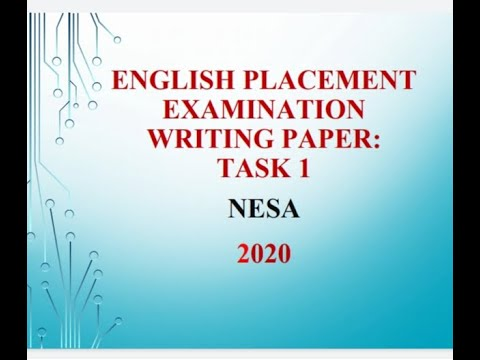 TASK 1 WRITING TIPS FOR ENGLISH PLACEMENT EXAMINATIONS