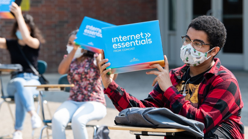 Comcast Internet Essentials - Northeast High School giveaway on Thursday, August 27, 2020 in Philadelphia.