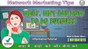 Vestige : What, Why and How to do Business | Network Marketing Tip |क्या, क्यों और कैसे करें वेस्टीज