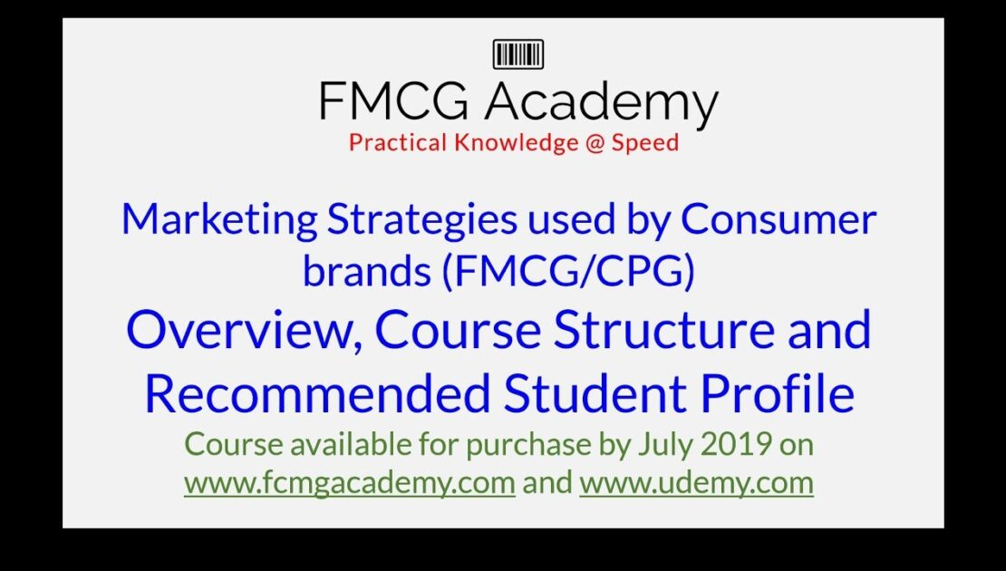 Marketing Strategies FMCG/CPG Course Overview
