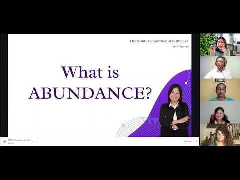 What is Abundance? by Joyce Teo - WOW live streaming