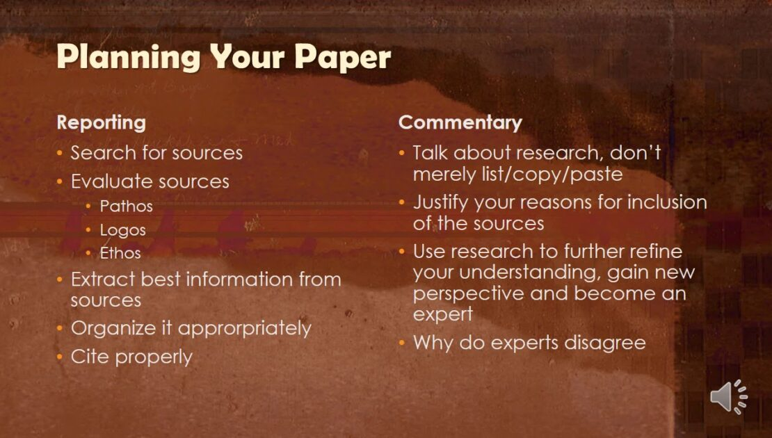 English 1302: Tips for Writing a Research Paper