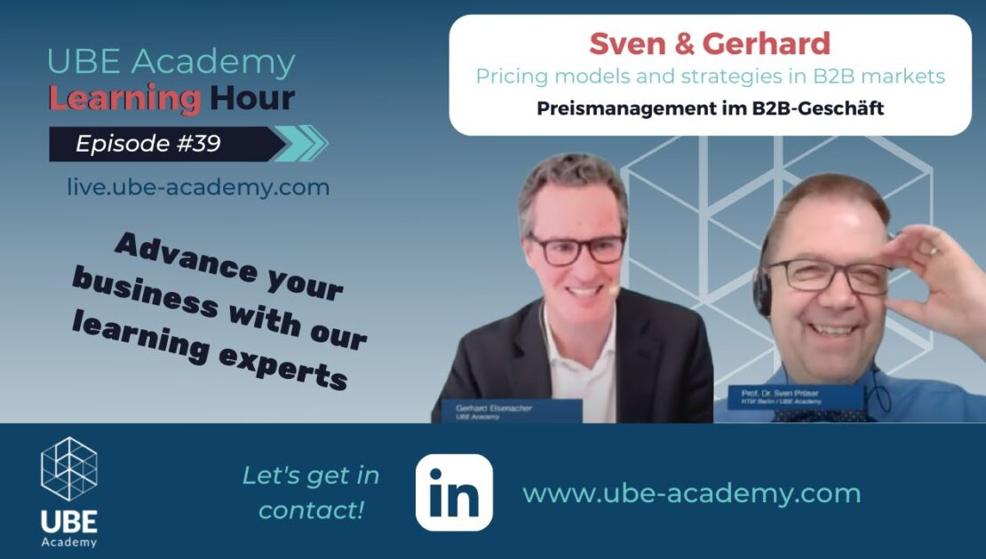 Pricing models and strategies in B2B markets | UBE Academy Learning Hour