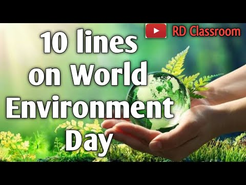10 lines on World Environment Day in English Essay Writing   Essay on World Environment Day 2021