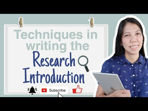 WRITING THE RESEARCH INTRODUCTION//TECHNIQUES + BONUS TIPS #PracticalResearch#ResearchPaper