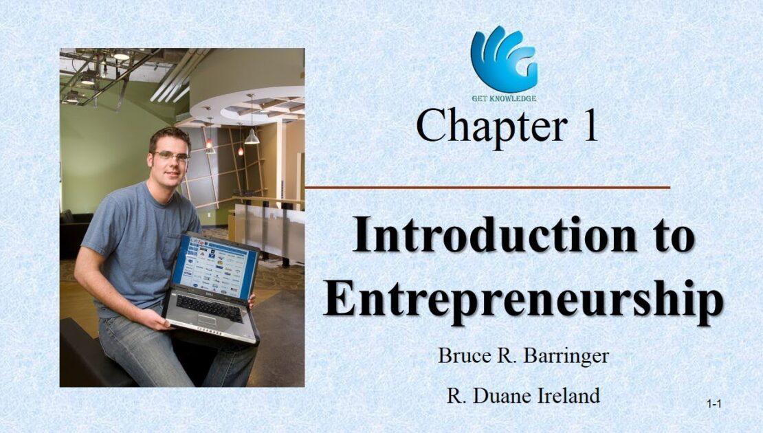 Introduction to Entrepreneurship   Entrepreneurship (Chapter 1)