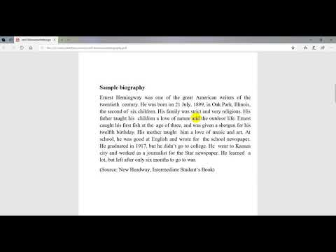 How to write Biography   SEE English tips for free writing   English Free writing tips   SEE English