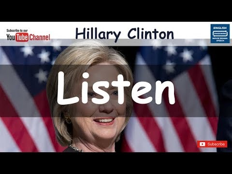 Shadowing English Hillary Clinton - 4th World Conference for Women#3 -  Writing tips 미드 일상영어